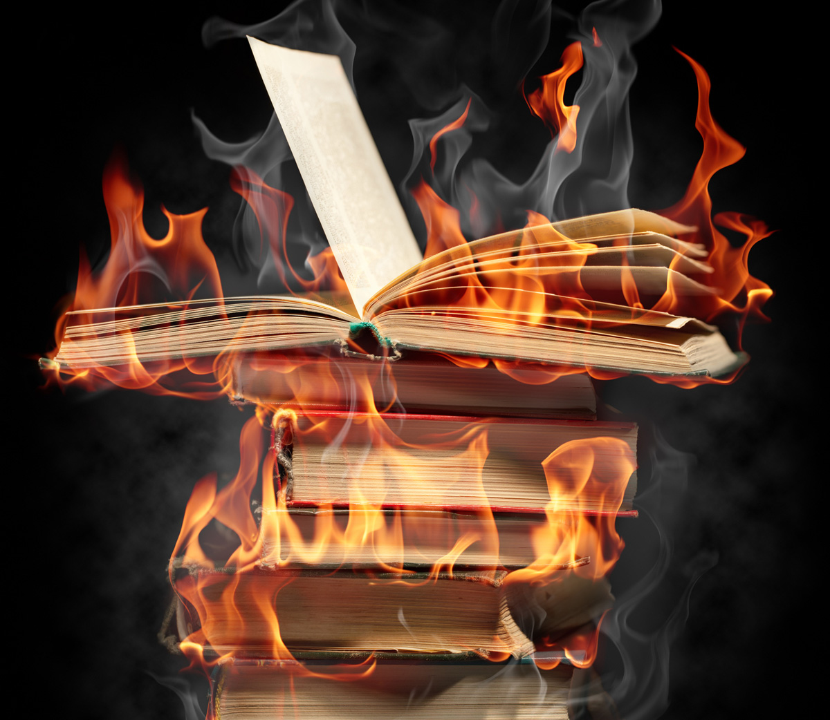 Thanadoula Burning Books_dreamstime_m_16582505